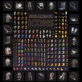 Set of 500 armor icons