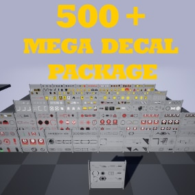 500+ Mega Decal Package