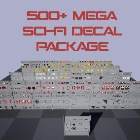 500+ Mega Decal Package