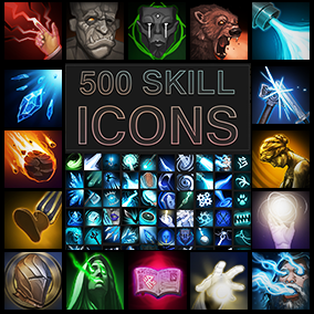 Set of 500 skill icons.