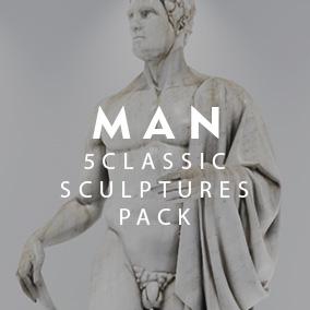 5 Sculptures Pack Man