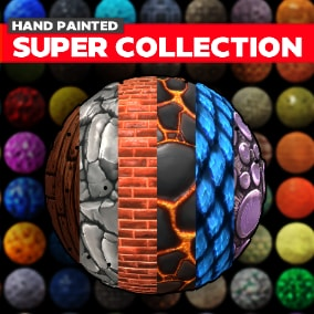 598 Stylized Game Textures. Great for desktop or mobile games.