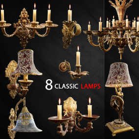 Includes 8 high-quality classic lamps.