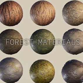 9 Realistic PBR Forest Materials