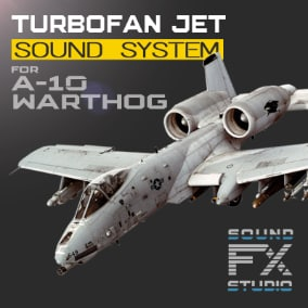 The A-10 Warthog Turbofan Aircraft project contains all the necessary material to control the advanced flight model and reproducing the sounds of a twin turbofan aircraft. Revive your A-10 Thunderbolt II.