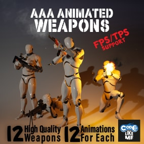 AAA quality weapon and character animation Pack