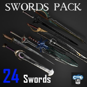 AAA Quality Game ready Sword Pack