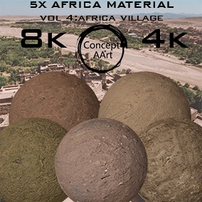 5 AAA Quality Africa  Materials for all platforms. All Textures have their own 8K,4K,2K and 1K version and ready for every kind of project.