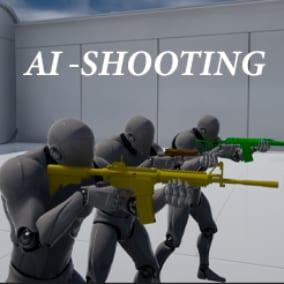 AI for a shooting game, including behaviors such as shooting, cover seeking, flanking, patrolling, and random personalities (Courageous, Sniper, cover shooting, etc.)