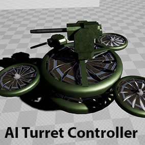 An actor component that can quickly create a highly customizable and fully automated turret from other components. Very flexible and full of options for almost everything. An easy and fast solution to AI turrets.