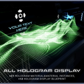 ALL HOLOGRAM DISPLAY Pack is a fully functional set of hologram display models and materials.