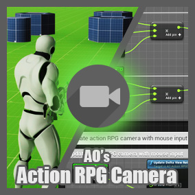 A third person camera developed for action RPGs. With 23 different options for changing the camera behavior.