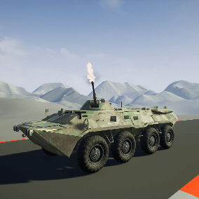Fully working APC, vehicle with weapons