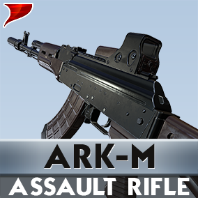 ARK-M Assault Rifle includes all kinds of unique 4K textures VFX/SFX and Aniamtions.
