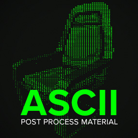 Post Process Material to turn your scene into ASCII art