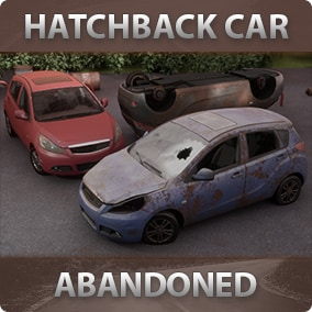 Abandoned car with many customizations