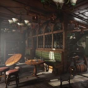 Asset set of Abandoned rish Pub. INTERIOR ONLY