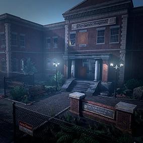 A modular abandoned hospital where something supernatural is happening.