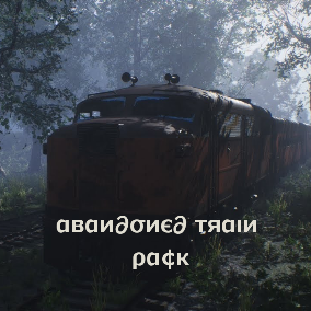 Freight and passenger railroad cars with track for your post-apocalyptic zombie world!