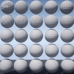 The package of 25 Abstract PBR Materials