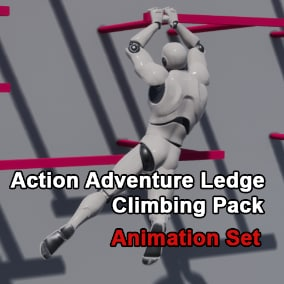 This is a full set of Action Adventure Game Ledge Climbing Animations