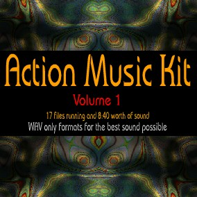 Action Music Kit for Games, Volume 1 is a collection of 17 WAV files in 16-bit format.