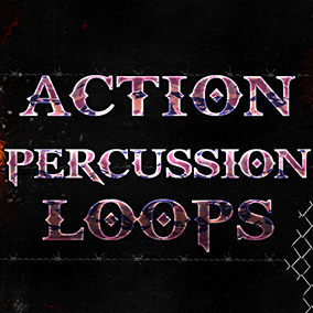 Powerful, dynamic, action percussion loops