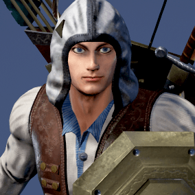 Character is perfect for a first person or 3rd person adventure game.  May fight as warrior, archer, wizard... Can use same animations, weapons, armors and horses like Adam Knight Horseman and Adam Archer Horseman