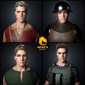 Ultimate Character Customization Tool, Allows you to Generate 1,000's of Different Characters, Cloth em up and texture their cloth All Inside Unreal Then Migrate them to your project, brought to you By Hero's Journey Compatible with Mannequin skeleton.