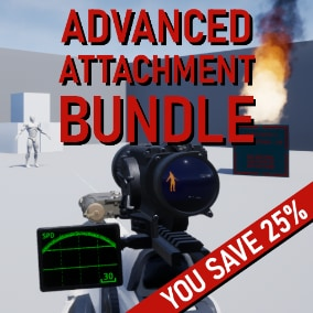 Attachments bundle containing Thermal Scope, Laser and Sensor!