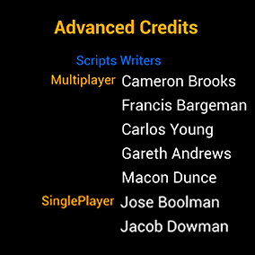Easy to install and customize the closing credits system for your game.
