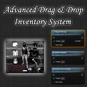 This project is a full inventory system with interact-able item picks and Drag & Drop operations. Items are stackable. The inventory UI features 8 item equip slots.