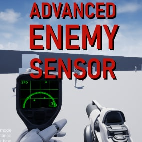 Enemy sensor with 2 modes and adjustable range