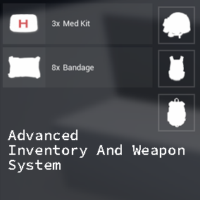 It's an advanced inventory and weapon system for your games.