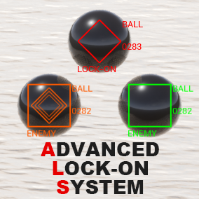 The advanced lock-on system automatically tracking a target. And it provides four functions that lockon the enemy. Also, predicts the location of the target that my projectile will hit and it displays a marker in the prediction location.