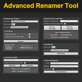 Renaming multiple assets can take a lot of time and effort, but this tool will help you work easier and more efficiently!