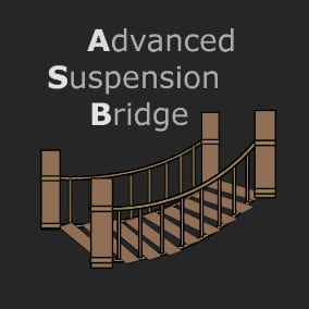 A fully interactive suspension bridge building toolkit powered by C++