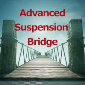 Advanced suspension bridge for creating dynamic suspension bridges modularly for your project