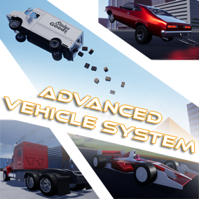System for quickly building multiplayer ready physics based vehicles