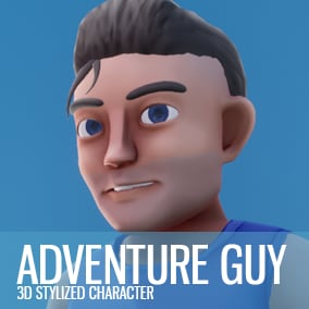Stylized 3D Character with the source files