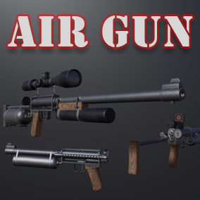 Powerful homemade air gun.