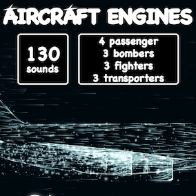 Library of civil and military aircraft engine sounds.