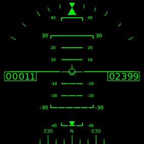 A Head Up Display for all kind of aircrafts. Can project HUD on a mesh or in a UMG widget. Customizable.