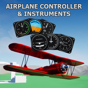 A simple airplane controller with fully functional general aviation instruments.