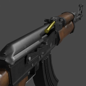 Highly detailed Ak47 Gun 3D model with realistic appearance. A low poly model created with game development in mind.