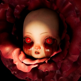 Baby flower horror character with Morphs Targets