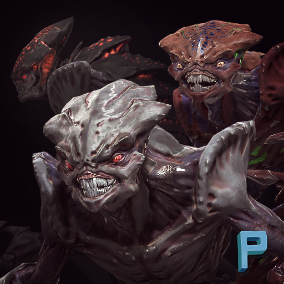 Horrible Aliens ready to any game! Animated character with optimized polygon count.