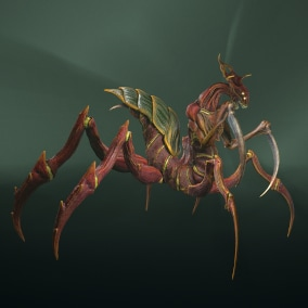 Low-poly model of the character Alien Spider