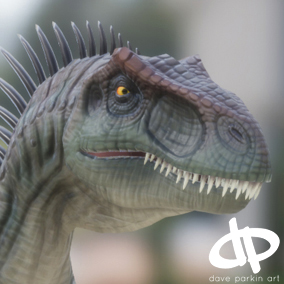 Allosaurus Character Rig and Animations