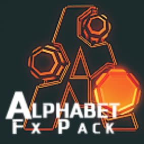 A Big Pack of Animated Alphabet FXs, for your Games (Environement,Gameplay,...etc)